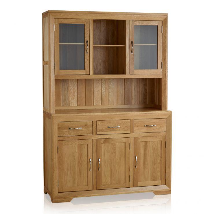 Bevel Natural Solid Oak Large Dresser - Image 8
