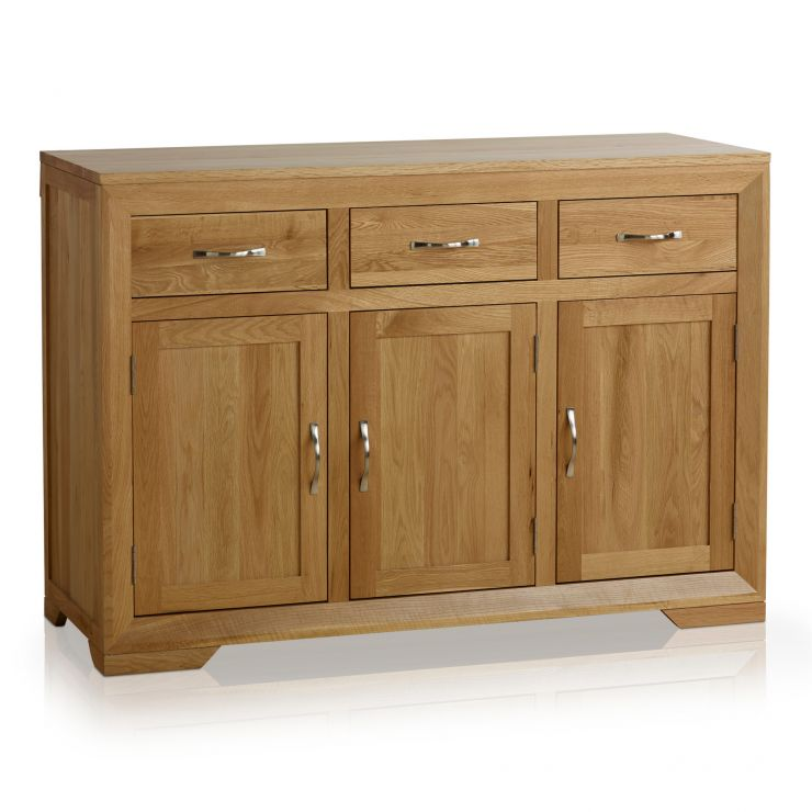 Bevel Natural Solid Oak Large Sideboard - Image 1
