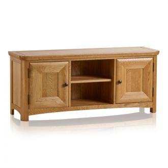 Wiltshire Natural Solid Oak Large TV Unit