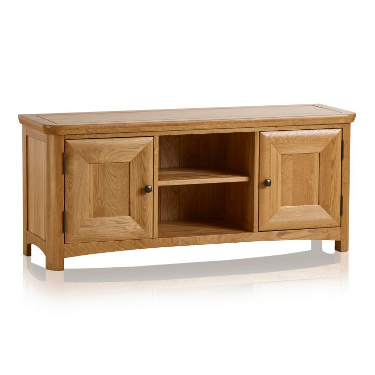 Wiltshire Natural Solid Oak Large TV Unit - Image 1