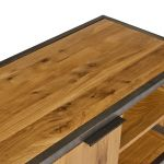 Brooklyn Natural Solid Oak and Metal Large TV Unit - Thumbnail 6