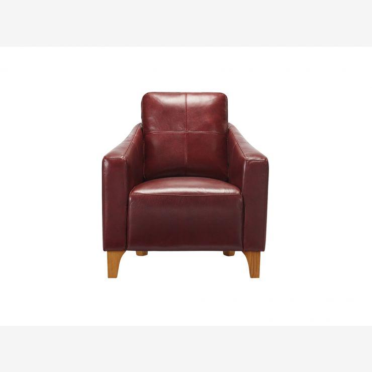 Blake Armchair - Burgundy Leather - Image 2