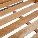 Boston Natural Solid Oak and Metal King-Size Bed - Thumbnail 3