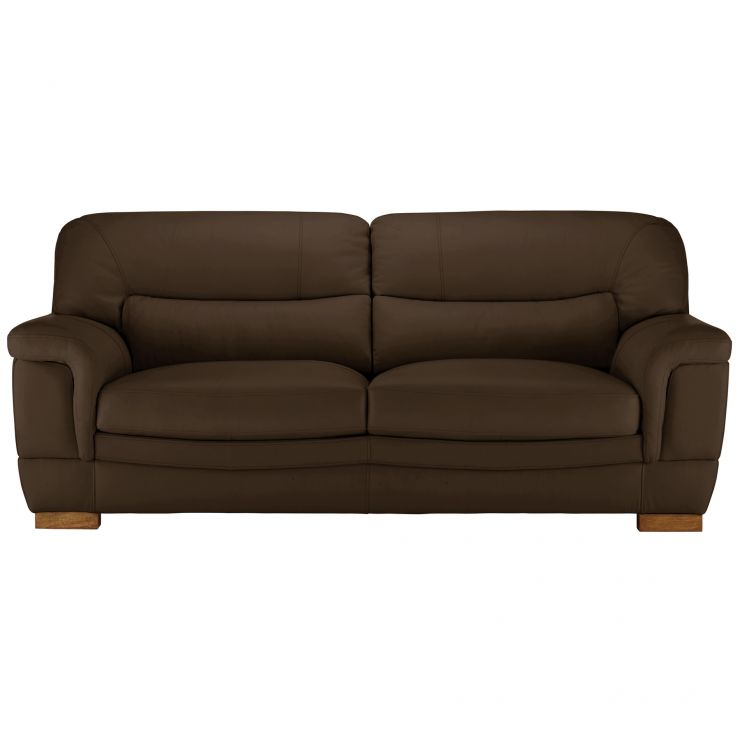 Brandon 3 Seater Sofa - Light Brown Leather