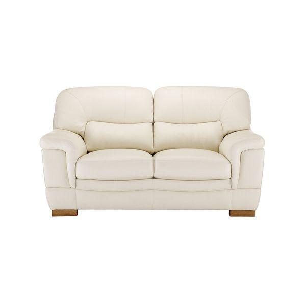 Brandon 2 Seater Sofa - Cream Leather