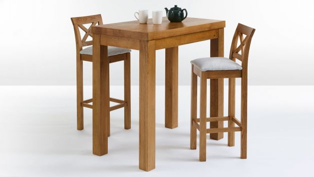 Breakfast Bar Table And Stools Bar Table Sets Oak Furnitureland
