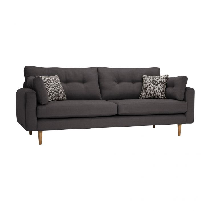 Brighton Charcoal 4 Seater Sofa with Charcoal Scatters