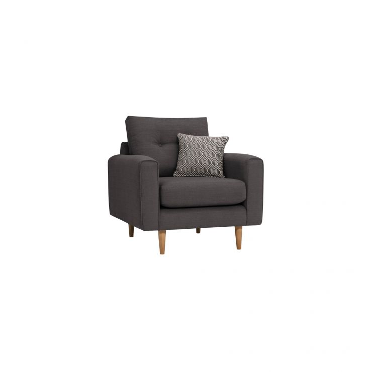 Brighton Charcoal Armchair with Charcoal Scatter