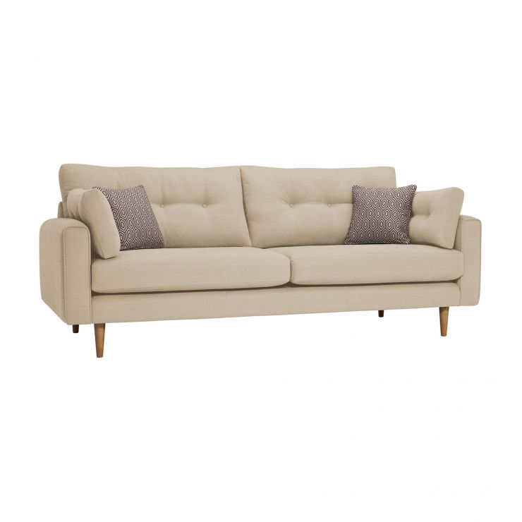 Brighton Parchment 4 Seater Sofa with Parchment Scatters