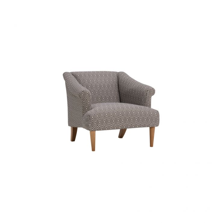 Brighton Patterned Charcoal Accent Chair