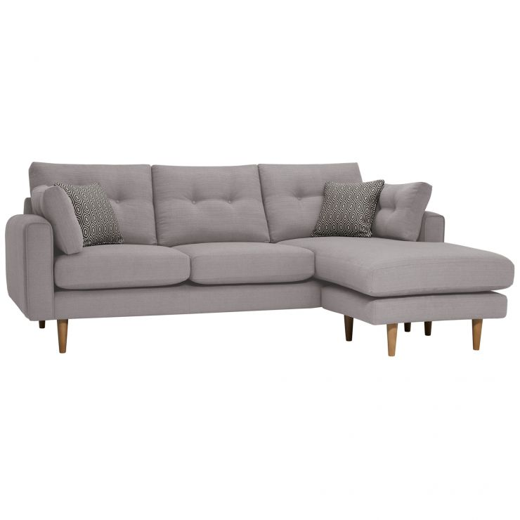 Brighton Pebble Corner Sofa Left Hand with Charcoal Scatters