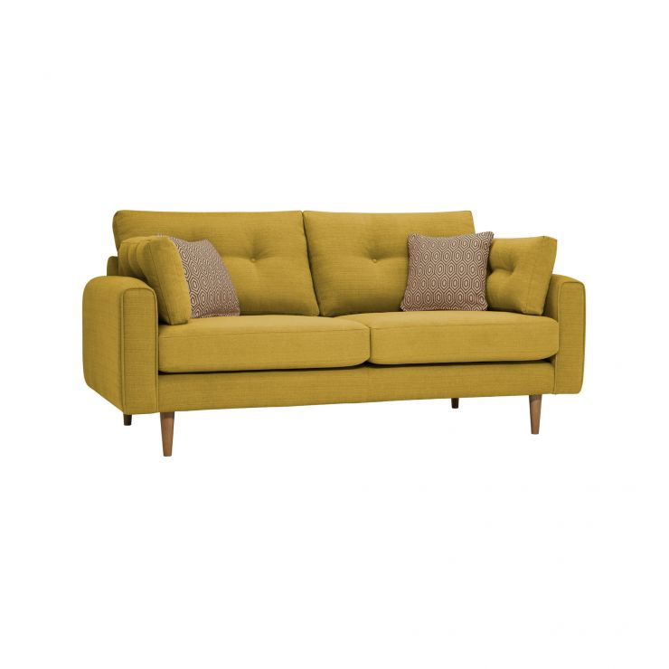 Brighton Saffron 3 Seater Sofa with Saffron Scatters