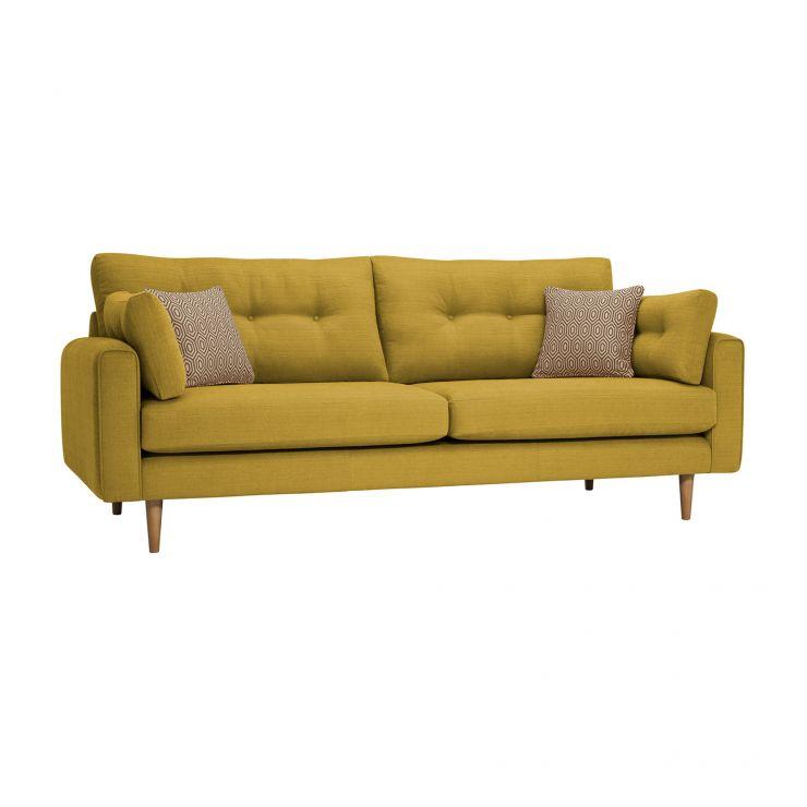 Brighton Saffron 4 Seater Sofa with Saffron Scatters