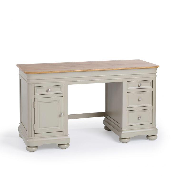 Brindle Natural Oak and Painted Computer Desk