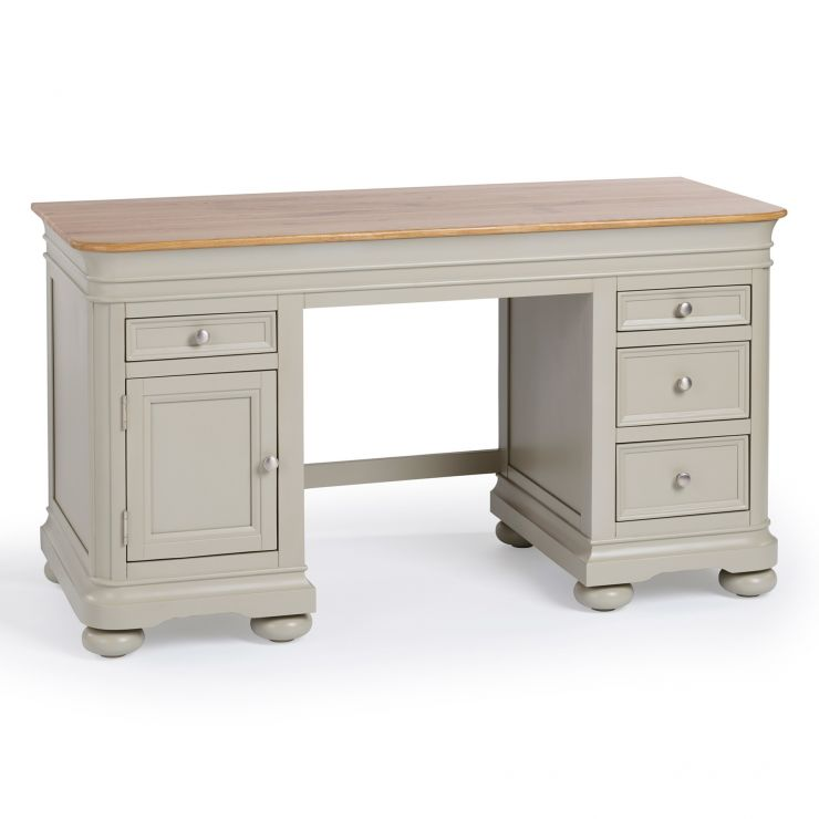 Brindle Natural Oak and Painted Computer Desk