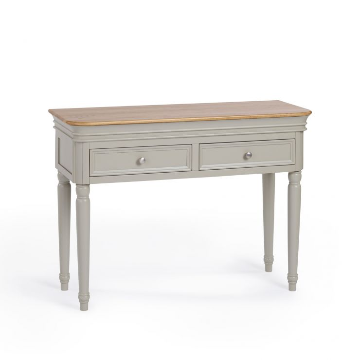 Brindle Natural Oak and Painted Console Table