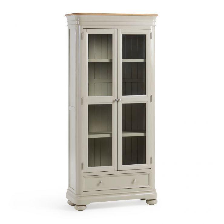 Brindle Natural Oak and Painted Display Cabinet