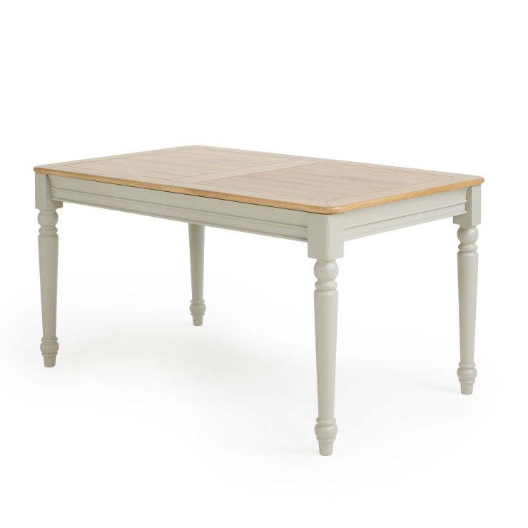 Brindle Natural Oak and Painted Extending Dining Table