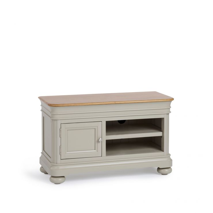 Brindle Natural Oak and Painted Small TV Unit