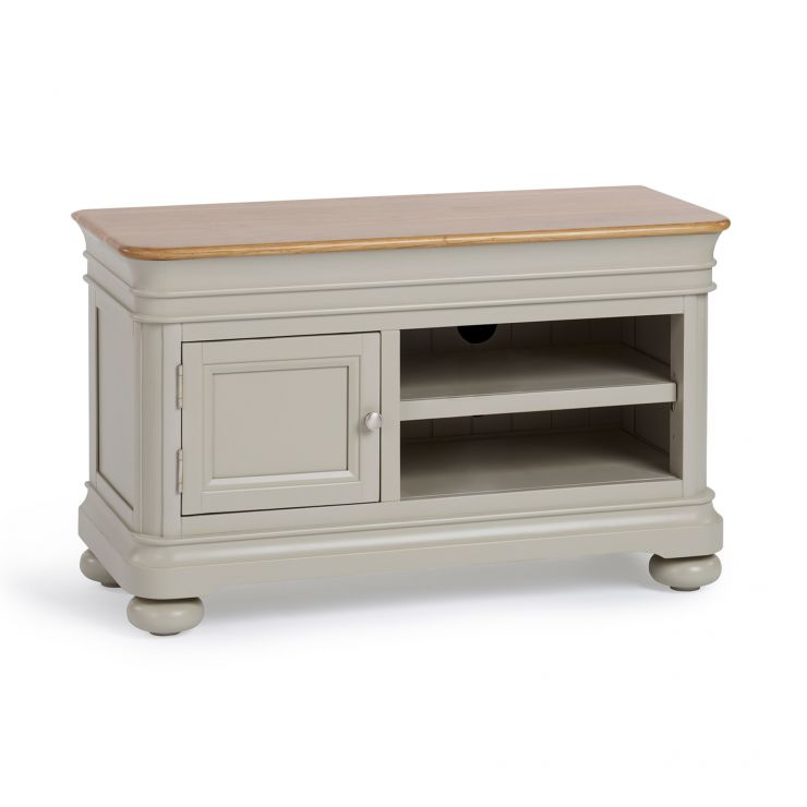 Brindle Natural Oak and Painted Small TV Unit - Image 1