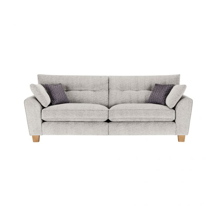 Brooke 4 Seater Sofa in Cream with Grey Scatters - Image 1