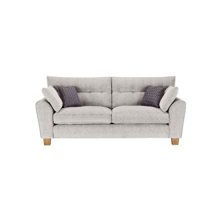 Brooke 3 Seater Sofa in Cream with Grey Scatters - Image 1