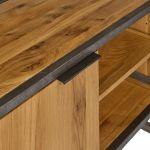 Brooklyn Natural Solid Oak and Metal Small TV Unit - Thumbnail 6