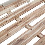 Burford Rustic Solid Oak and Distressed Paint Finish Double Bed - Thumbnail 3