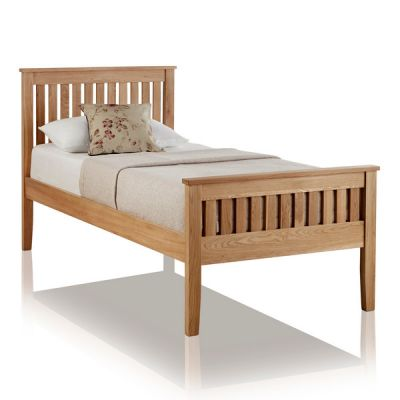 Cairo Natural Solid Oak 3ft Single Bed