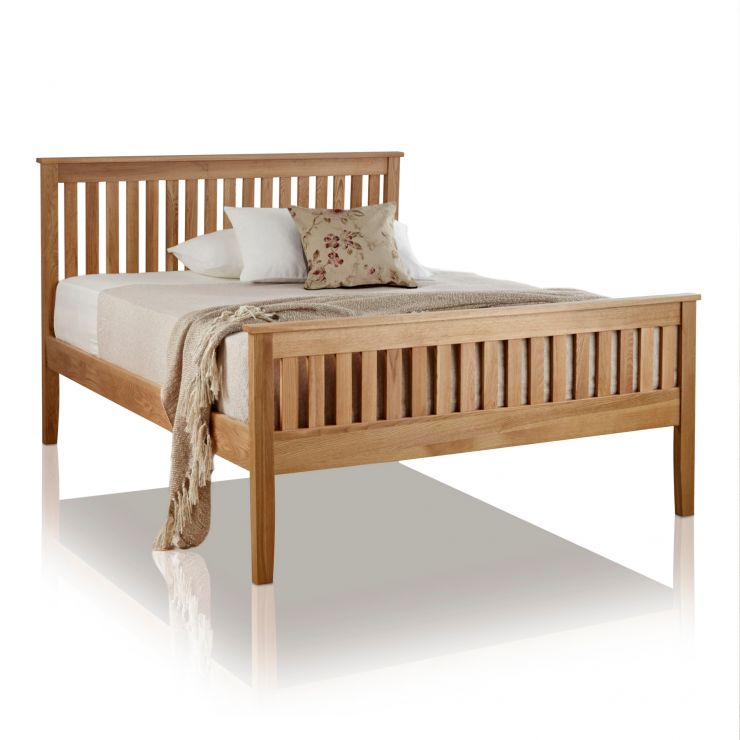 "Cairo Natural Solid Oak 4ft 6"" Double Bed - Image 4"