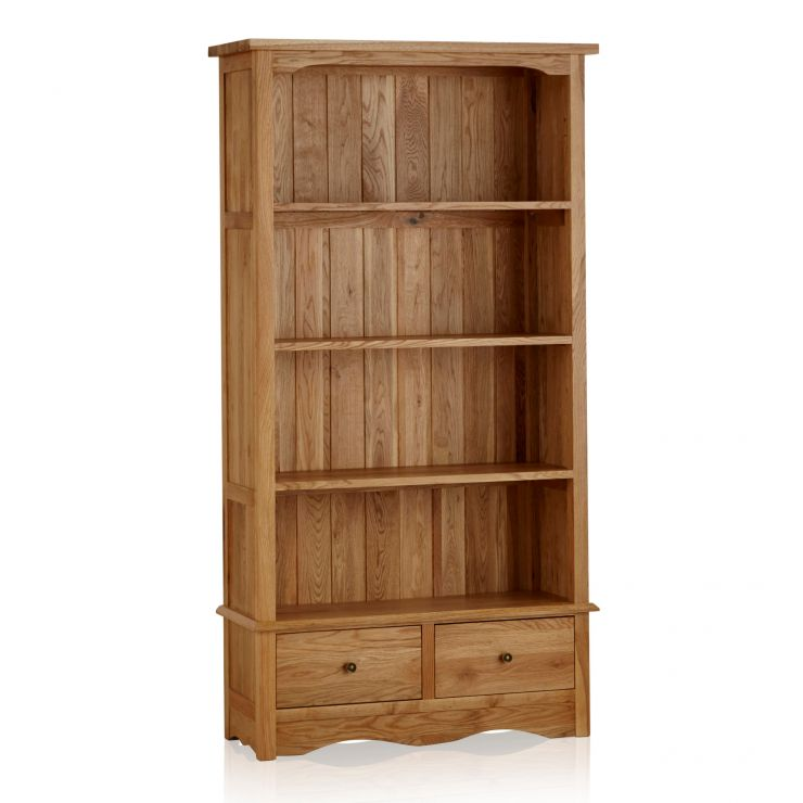 Cairo Natural Solid Oak Tall Bookcase - Image 6