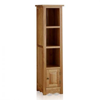 Cairo Natural Solid Oak Tall Slim Bookcase