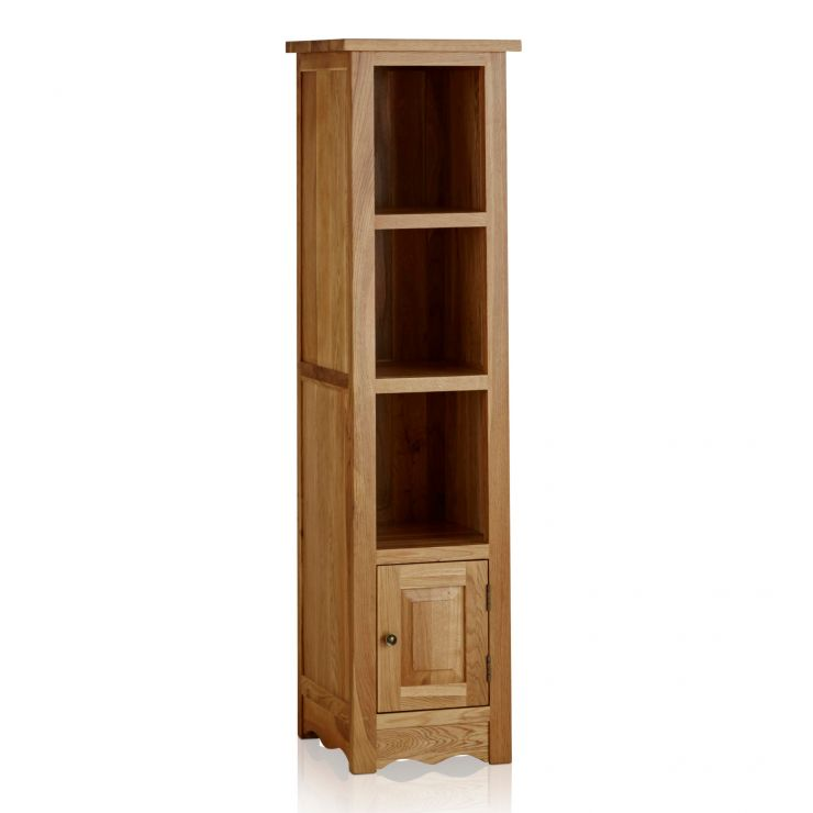 Cairo Natural Solid Oak Tall Slim Bookcase - Image 4