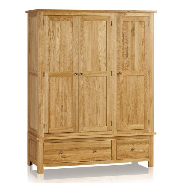 Cairo Natural Solid Oak Triple Wardrobe