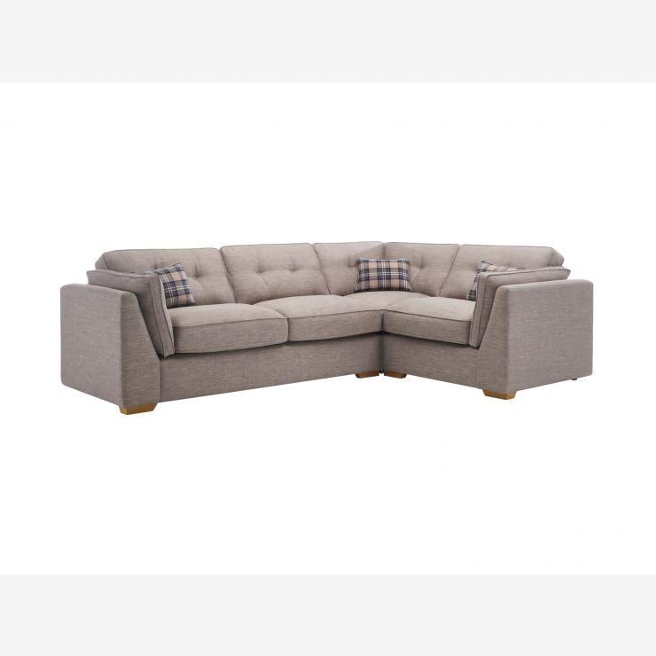 California Left Hand High Back Corner Sofa in Civic Smoke - Image 1