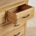Canterbury Natural Solid Oak 3+4 Chest of Drawers - Thumbnail 5
