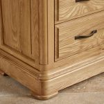 Canterbury Natural Solid Oak 3+4 Chest of Drawers - Thumbnail 7