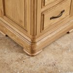 Canterbury Natural Solid Oak Bedside Table - Thumbnail 6