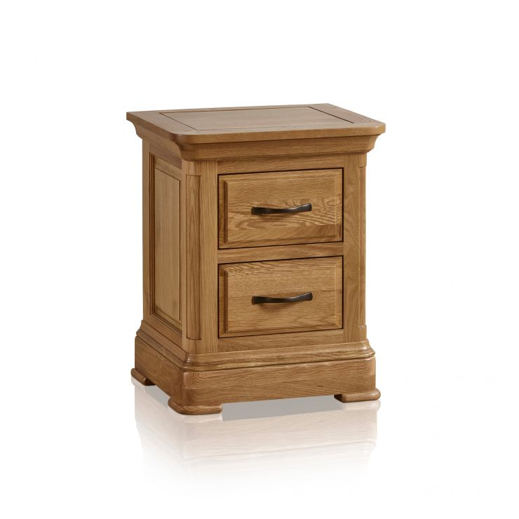 Canterbury Natural Solid Oak Bedside Table - Image 7