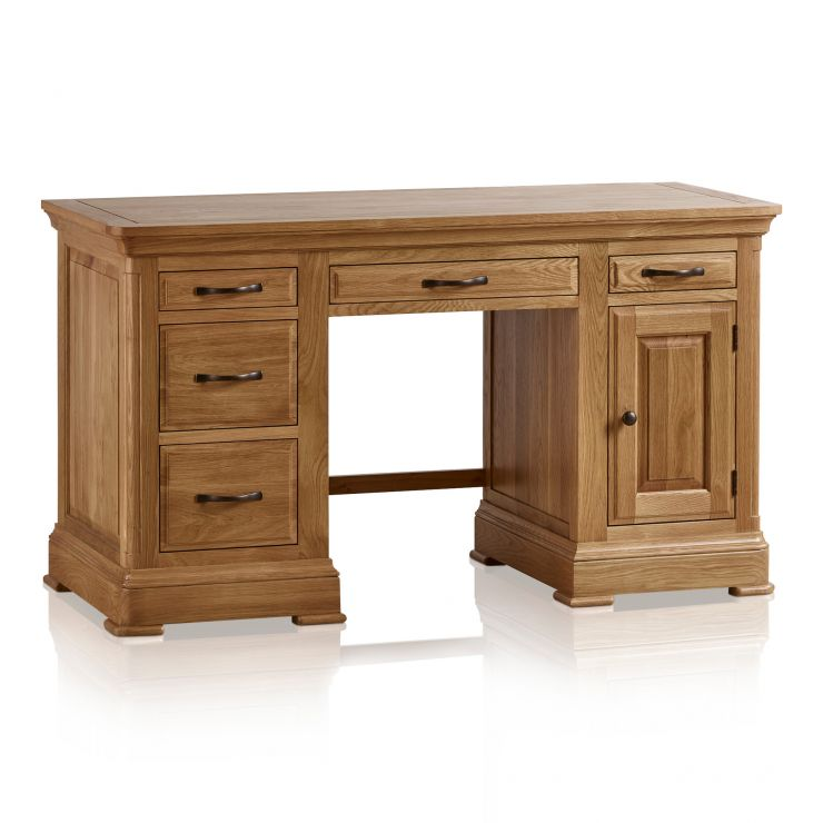 Canterbury Natural Solid Oak Computer Desk - Image 8