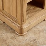 Canterbury Natural Solid Oak Side Table - Thumbnail 6