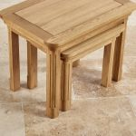 Canterbury Natural Solid Oak Nest of Tables - Thumbnail 6