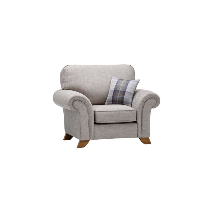 Carolina Armchair in Silver with Navy Scatter - Image 4