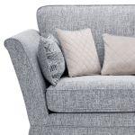 Carrington 2 Seater High Back  Sofa in Breathless Fabric - Navy - Thumbnail 5