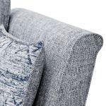 Carrington 2 Seater High Back  Sofa in Breathless Fabric - Navy - Thumbnail 6