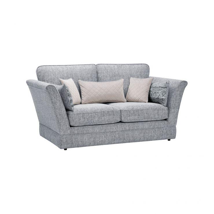 Carrington 2 Seater High Back  Sofa in Breathless Fabric - Navy