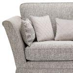 Carrington 2 Seater High Back Sofa in Breathless Fabric - Silver - Thumbnail 5