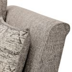 Carrington 3 Seater High Back  Sofa in Breathless Fabric - Biscuit - Thumbnail 5