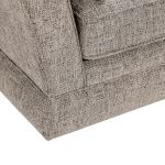 Carrington 3 Seater High Back  Sofa in Breathless Fabric - Biscuit - Thumbnail 7