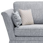 Carrington 3 Seater High Back Sofa in Breathless Fabric - Navy - Thumbnail 4